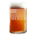 'Merica Etched Beer Can Glass 16oz