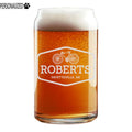 Roberts Choose Your Icon Etched Beer Soda Can Glass 16oz