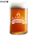 Aaron Personalized Etched Beer Soda Can Glass 16oz