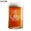 Scott Personalized Etched Monogram Beer Soda Can Glass 16oz