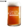 Kelsor Personalized Etched Beer Can Glass 16oz