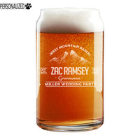 Ramsey Personalized Etched Beer Soda Can Glass 16oz