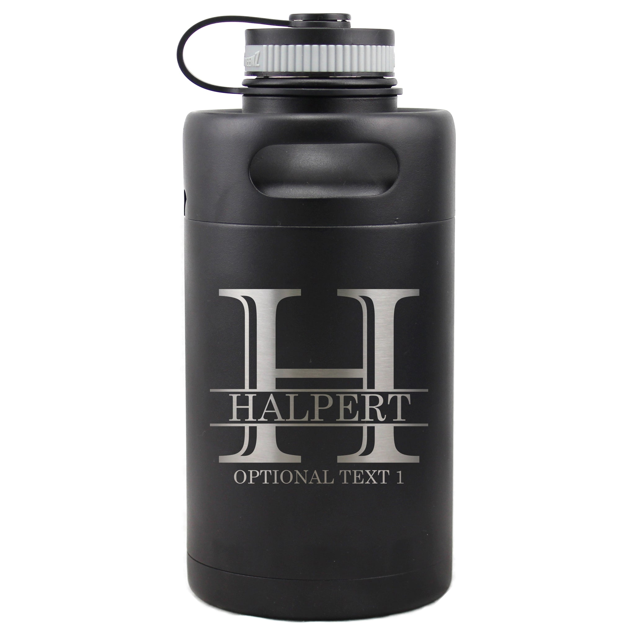 Personalized Etched Vacuum Insulated Beer Growler 64oz Keg