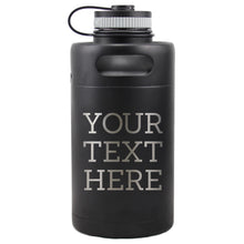 Load image into Gallery viewer, Custom Insulated Beer Growler 64oz Keg (Matte Black)