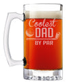 Coolest Dad by Par Etched Glass Beer Mug 25oz