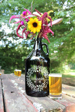 Load image into Gallery viewer, Personalized Wedding Glass Growler