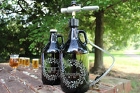 Wedding Personalized Etched Beer Growler Gilmore/Schroeder 64oz