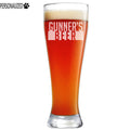 Gunner Personalized Etched Pilsner Beer Glass 23oz