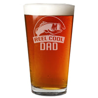 Reel Cool Dad Etched Pint Glass 16oz