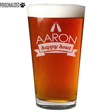 Aaron Personalized Etched Pint Glass 16oz