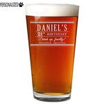 Daniel Personalized Etched Pint Glass 16oz