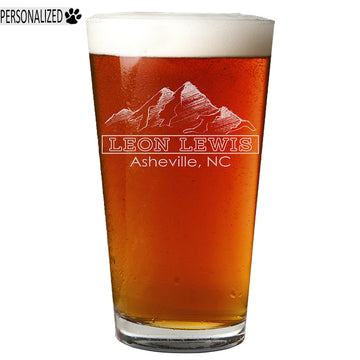 Lewis Personalized Etched Pint Glass 16oz