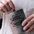 Your Logo Here or Custom Designs | Custom Etched 6oz. Stainless Steel Flask
