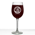 Bratton Personalized Etched Monogram Stemmed Wine Glass 16oz