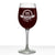 Maclaren Personalized Etched Monogram Stemmed Wine Glass 16oz