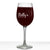 Molly Personalized Etched Stemmed Wine Glass 16oz