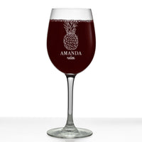 Personalized Etched 16oz Stemmed Wine Glass