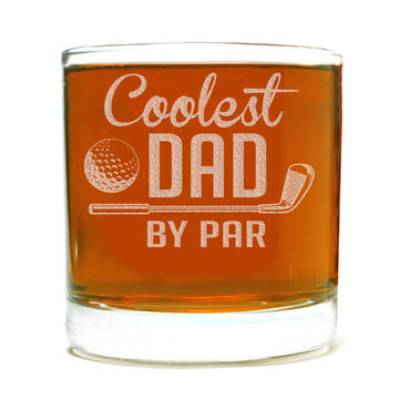 Coolest Dad by Par Etched Whiskey Glass 11oz