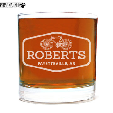Roberts Personalized Etched Whiskey Rocks Glass 11oz