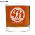 Bratton Personalized Etched Whiskey Rocks Glass 11oz