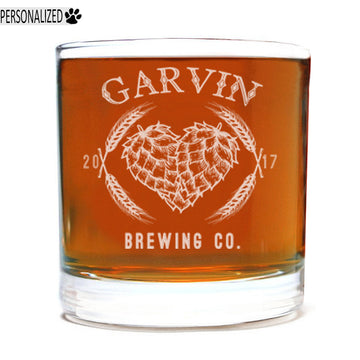 Garvin Personalized Etched Whiskey Rocks Glass 11oz