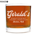 Gerald Personalized Etched Whiskey Rocks Glass 11oz
