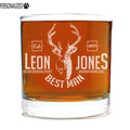 Jones Personalized Etched Whiskey Rocks Glass 11oz