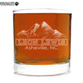 Lewis Personalized Etched Whiskey Rocks Glass 11oz