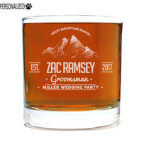 Ramsey Personalized Etched Whiskey Rocks Glass 11oz