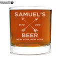 Samuel Personalized Etched Whiskey Rocks Glass 11oz