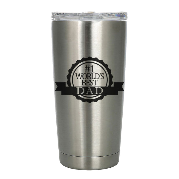 #1 World's Best Dad Etched Tumbler 20oz