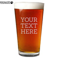 Your Custom Text Personalized Etched Pint Glass 16oz