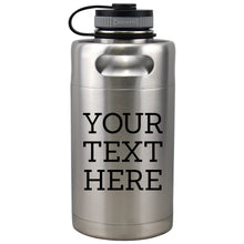 Load image into Gallery viewer, Custom Insulated Beer Growler 64oz Keg (Stainless Steel)