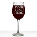 Your Custom Text Personalized Etched Stemmed Wine Glass 16oz