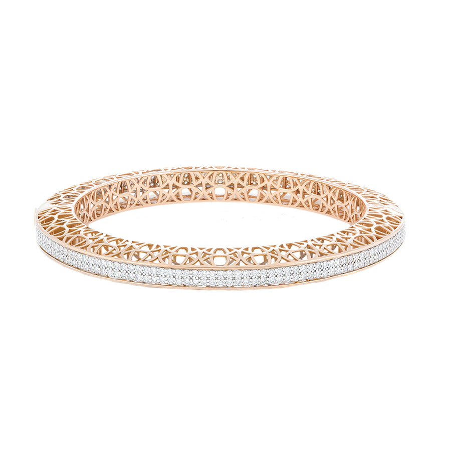 Diamond Rose Gold Bangle