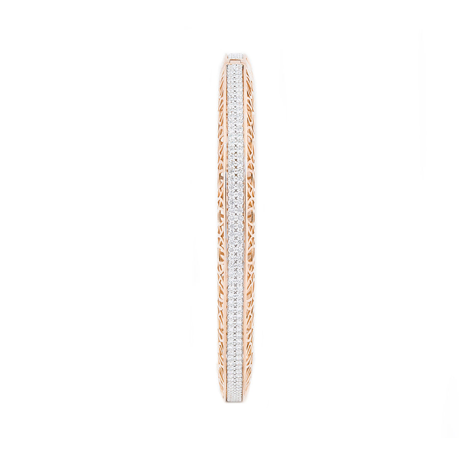 Diamond Stylish Rose Gold Bangle