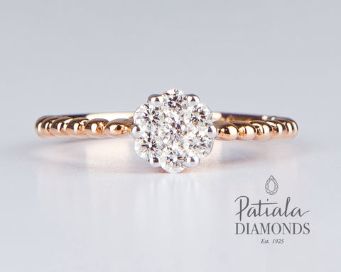 Diamond Ring-R5236B - patiala-diamonds