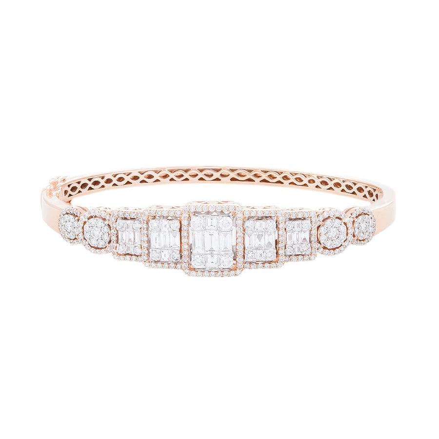 ILLUSION SETTING DIAMOND BANGLE