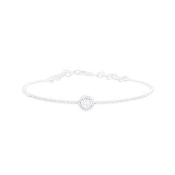 SOLITAIRE DIAMOND HALO BANGLE