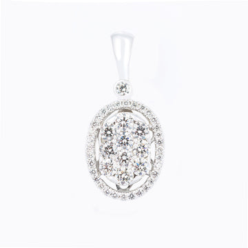 Oval Shaped Diamond Pendant