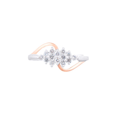 DIAMOND RING IN WHITE AND ROSE GOLD