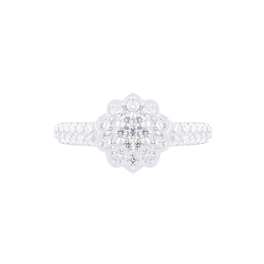 CLUSTER SET DIAMOND RING
