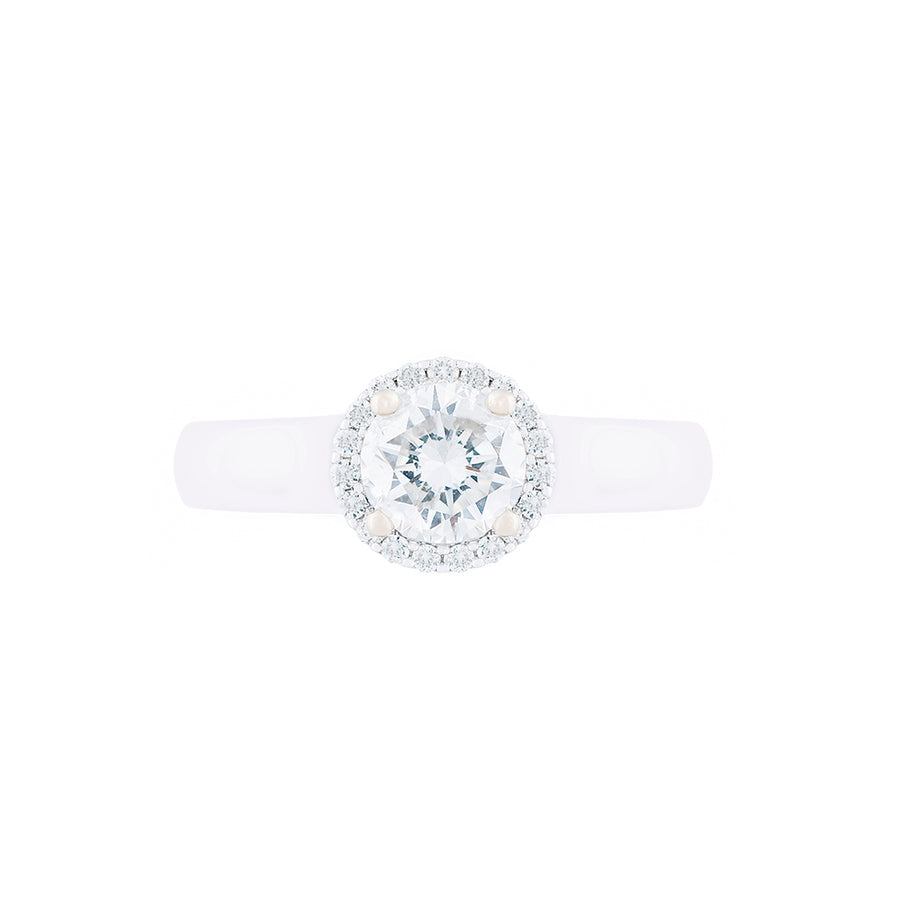 SOLITAIRE DIAMOND RING WITH HALLO DESIGN