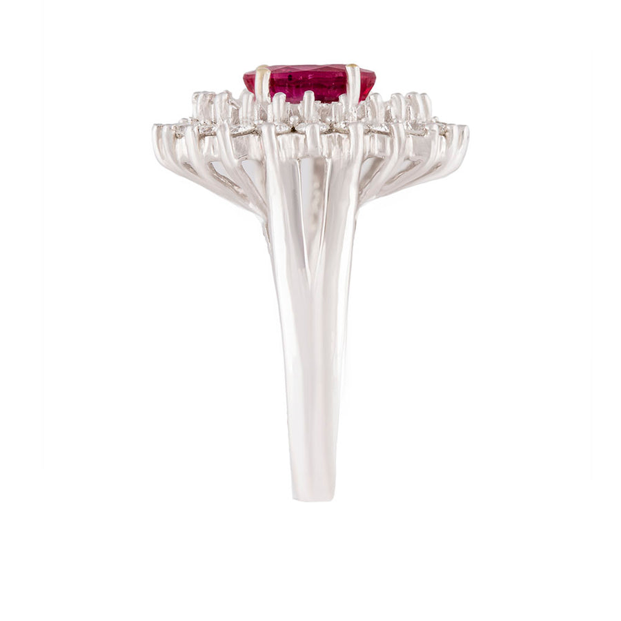 Diamond Ruby Ring Top View