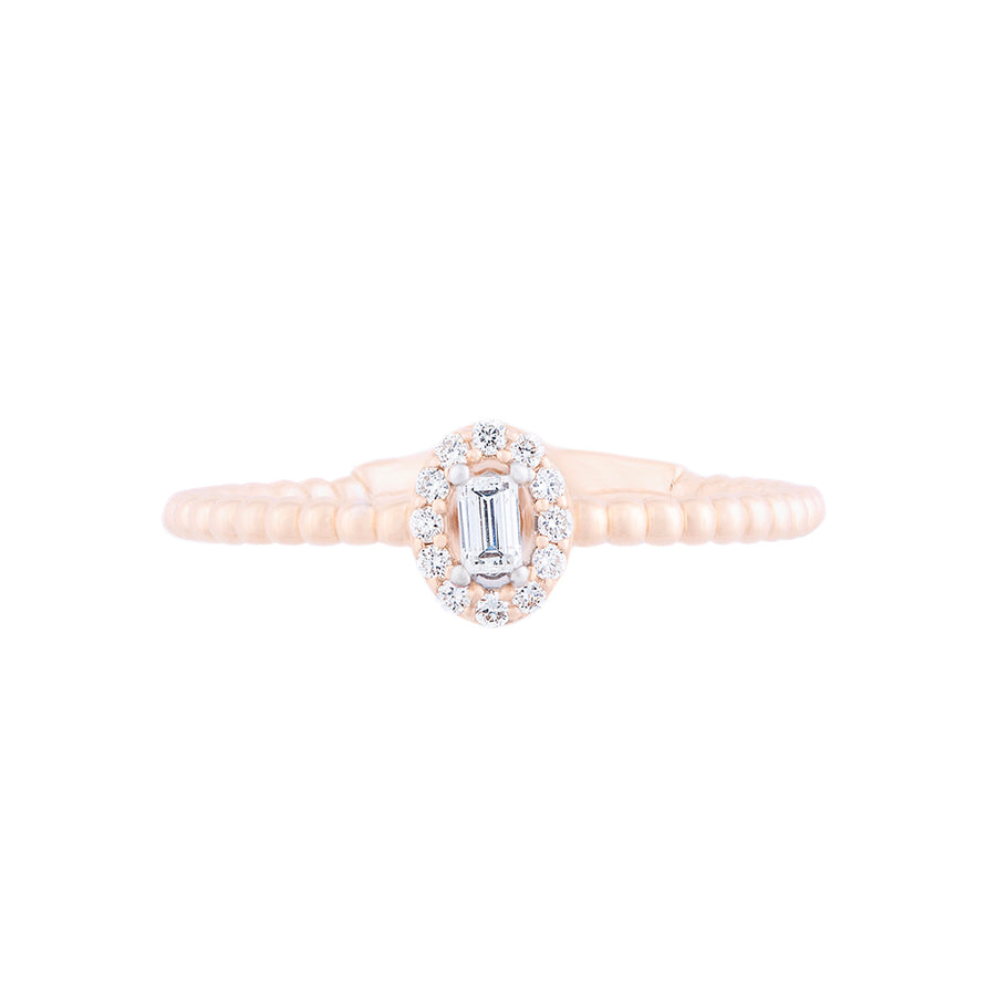 ROSE GOLD DIAMOND RING STYLISH