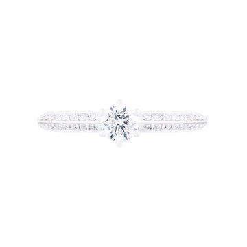 DIAMOND SOLITAIRE RING WITH SIDE DIAMONDS