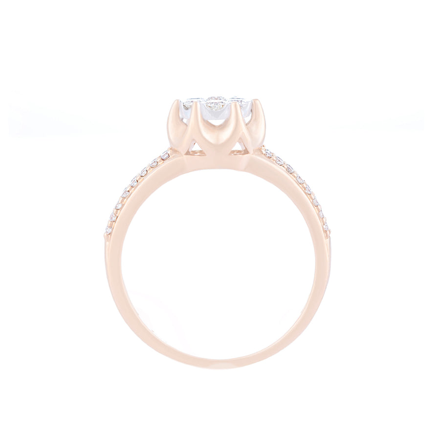 CLUSTER SETTING DIAMOND RING SIDE VIEW