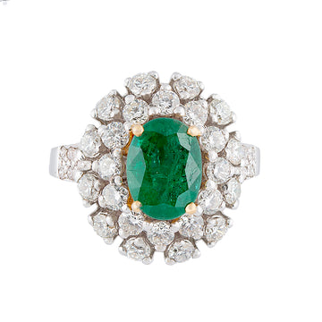 Diamond Emerald Ring-R(D)