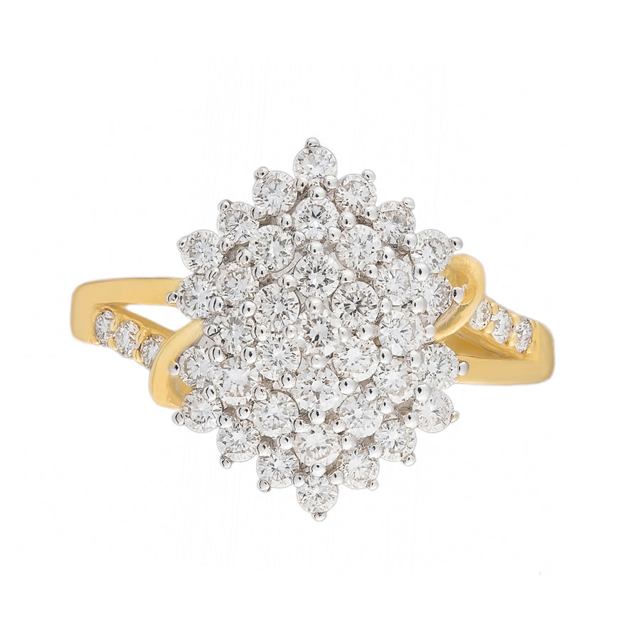 21 Kt Yellow Gold Diamond Ring