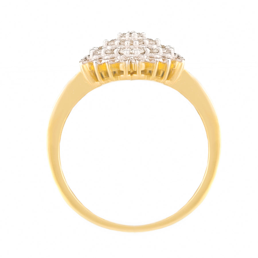 Yellow Gold Diamond Ring Top View